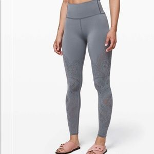 Lululemon Reveal Tight *Zen Expression Solar Grey